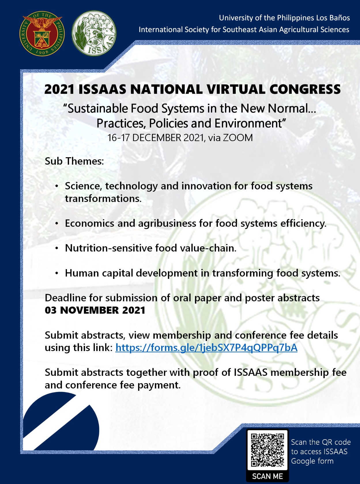 2021 ISSAAS National Congress - First Announcement resized